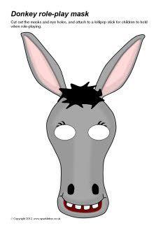 Mask clipart donkey Play Donkey role Balaam Pinterest