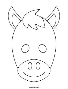 Mask clipart donkey To Donkey Mask Donkey Printable