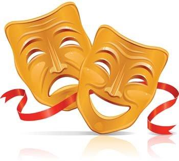 Theatre clipart mask vector Art Vector Drama Mask clipart