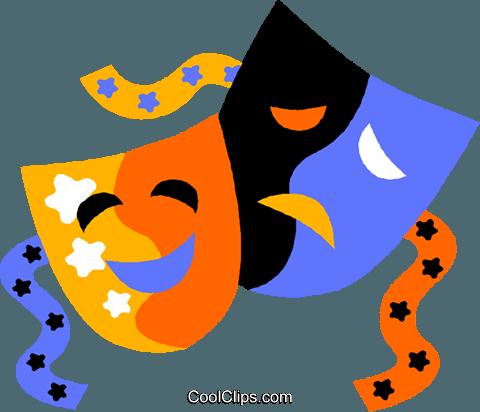 Theatre clipart mask vector Free Free Drama Clip Drama