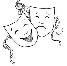 Celebrity clipart drama class Masks Drama Clipart Class Pinterest