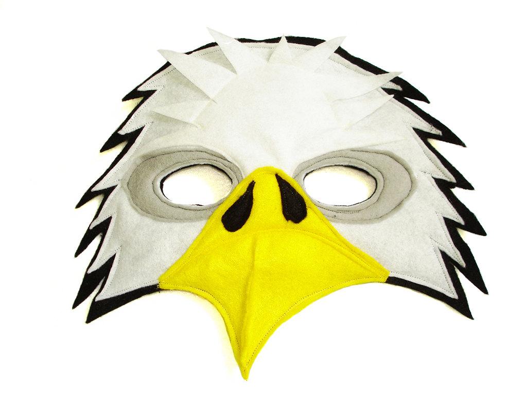 Mask clipart eagle Felt Mask BALD Children's Woodland