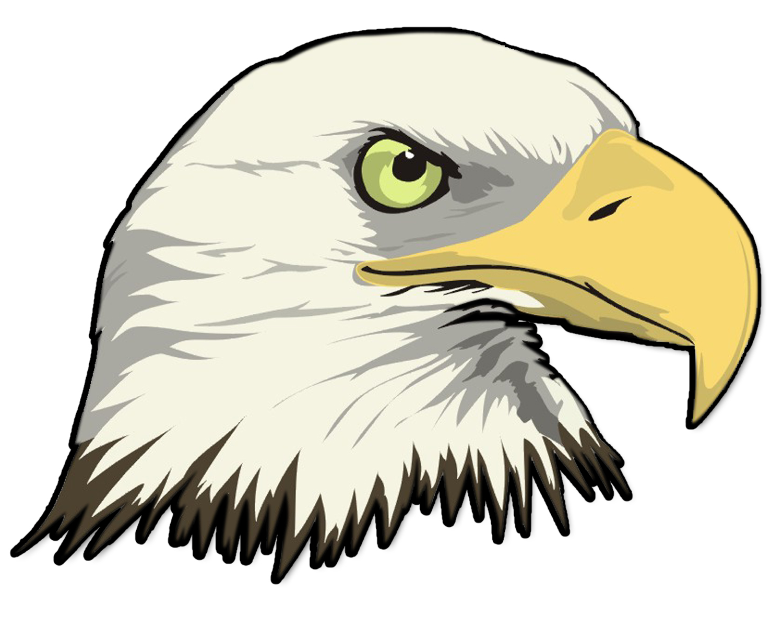 Mask clipart eagle Outline Bald Eagle With Outline