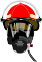 Firefighter clipart mask  Art Department Fire Helmet/mask