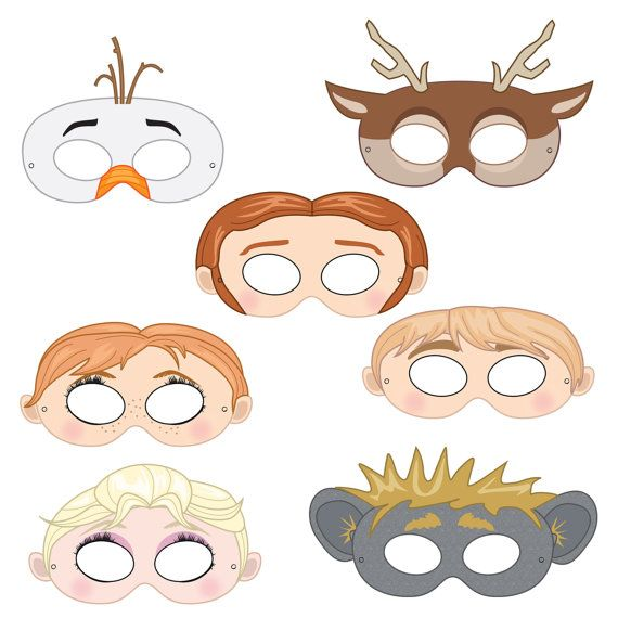 Mask clipart frozen $4 by Printable best on