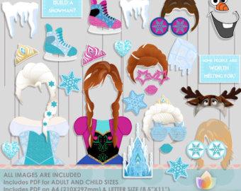 Mask clipart frozen Frozen Booth Frozen Photo Props