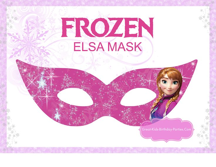 Mask clipart frozen Including su Frozen great of