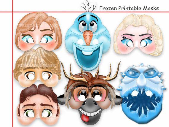 Mask clipart frozen AmazingPartyShop Anna Printable images Pinterest