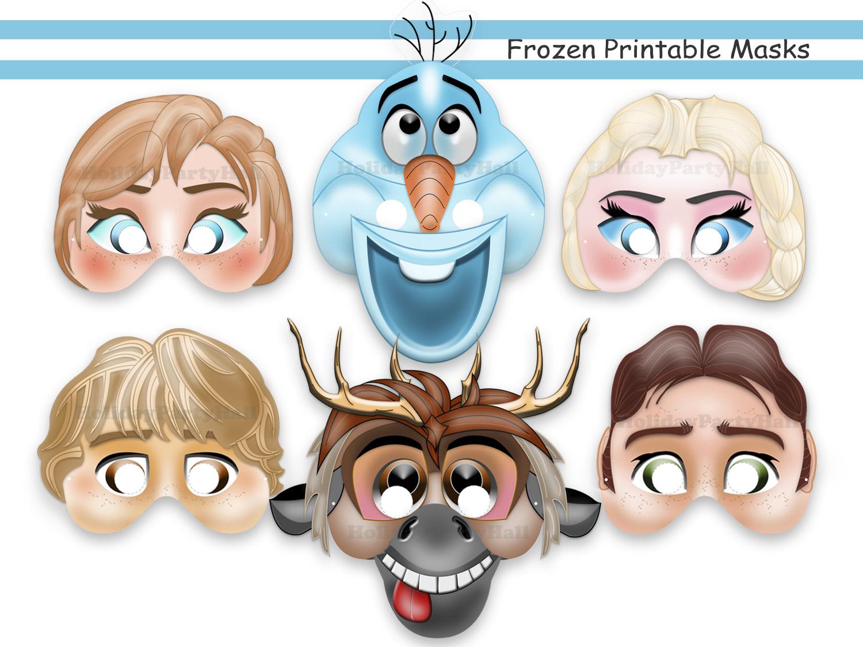 Mask clipart frozen Decoration party decoration masks Printable