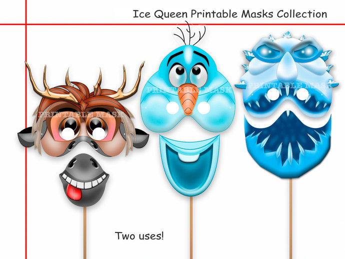 Mask clipart frozen Decoration masks Printable Unique party