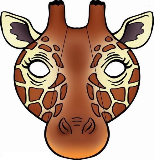 Mask clipart giraffe » template giraffe funnycrafts mask