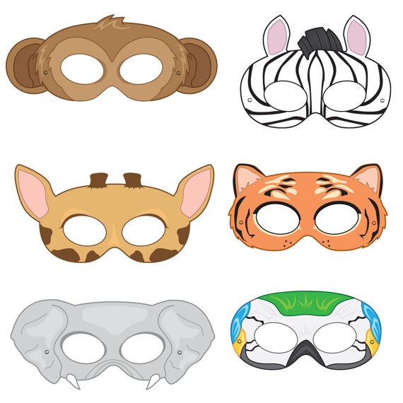 Mask clipart giraffe Bird Masks zebra costume jungle