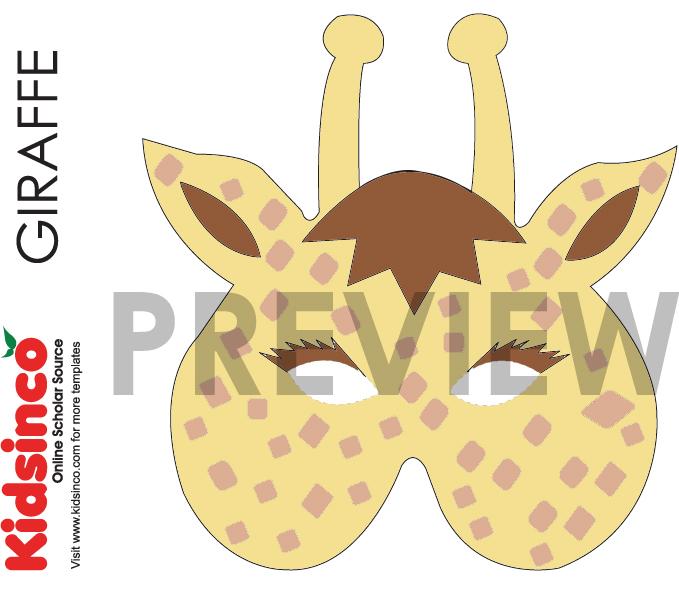 Mask clipart giraffe Masks Templates I Animal Masks