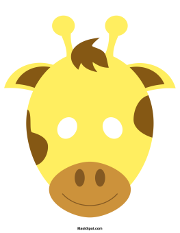 Mask clipart giraffe To PDF a Color Printable