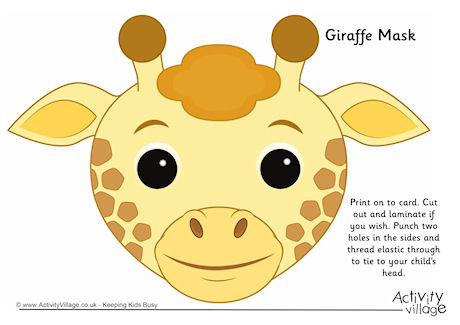 Mask clipart giraffe · Masks Activity jpg Explore