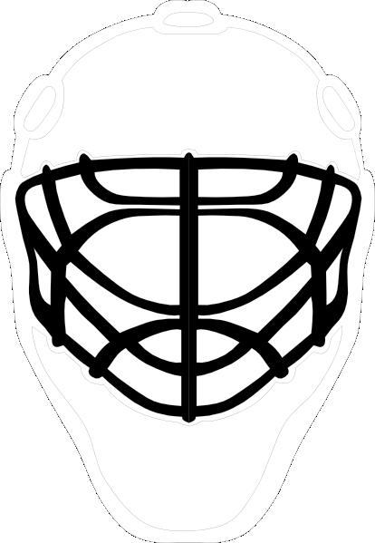 Phanom clipart hockey mask Goalie Art Black Download as: