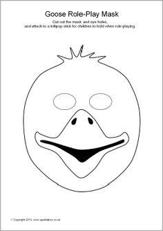 Mask clipart goose (SB9257) play SparkleBox  masks