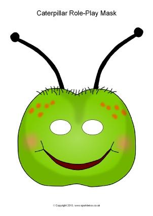 Caterpillar clipart minibeast Masks SparkleBox Role Masks EYFS