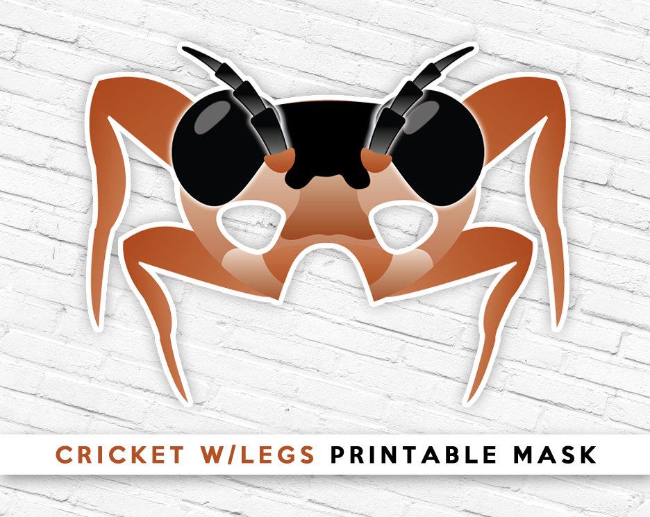 Mask clipart grasshopper Etsy Brown Printable Grasshopper Grasshopper
