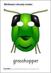 Mask clipart grasshopper On SparkleBox masks 137 Pinterest