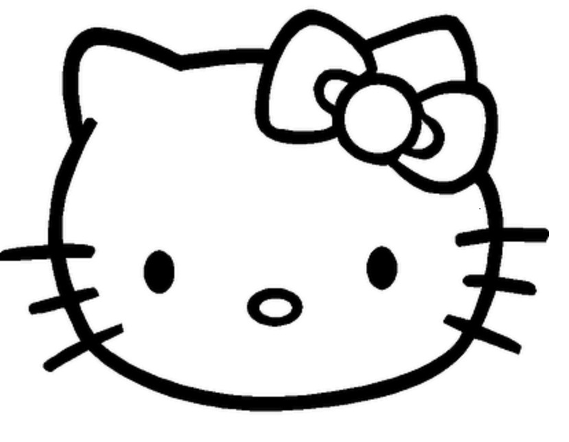 Mask clipart hello kitty Printable Hello kitty kitty template