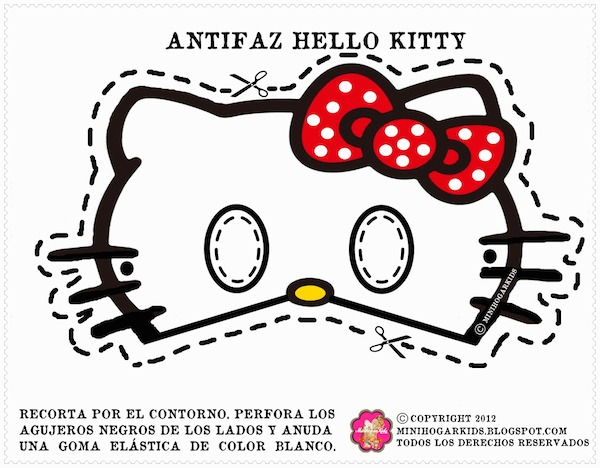 Mask clipart hello kitty Masks #Masks 4 Kitty Printable