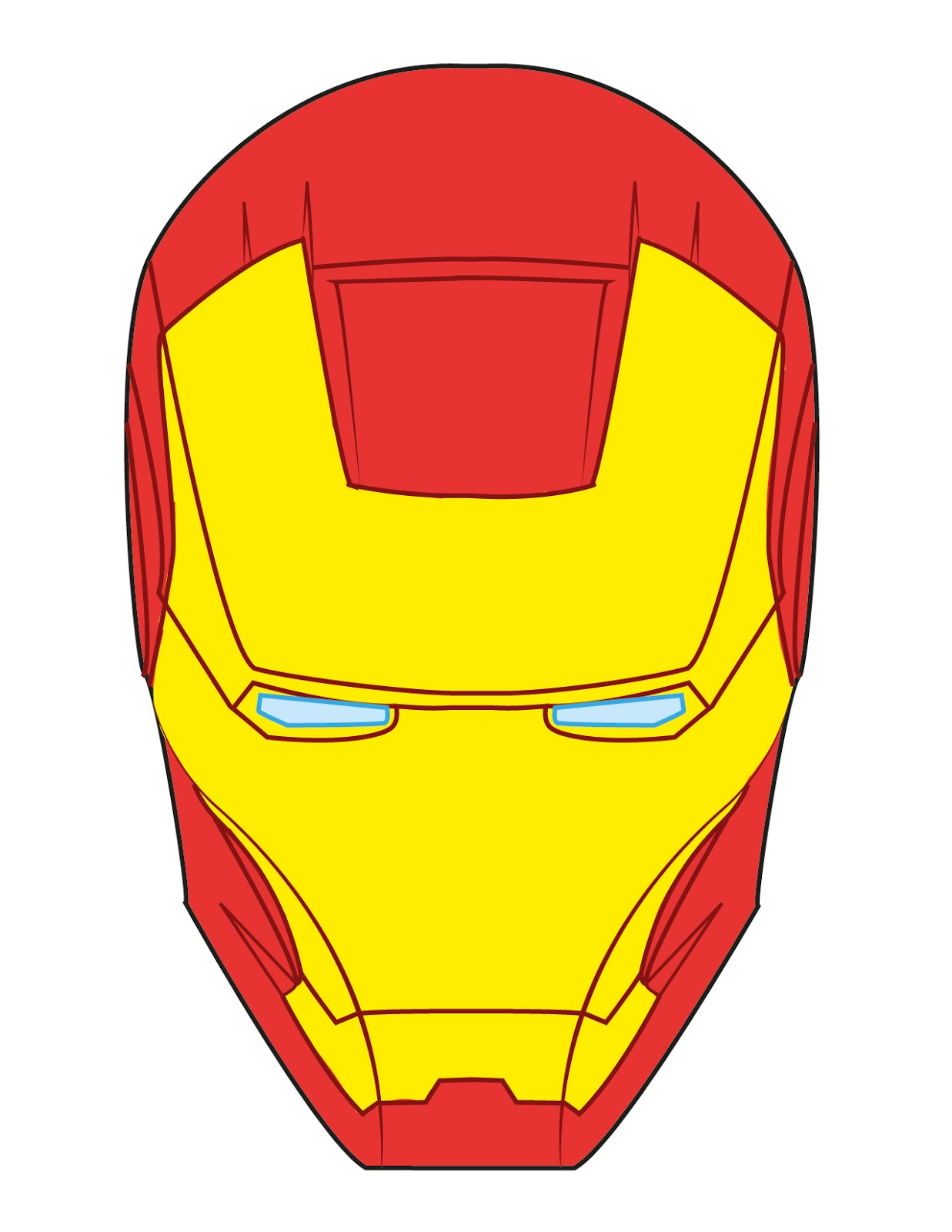 Mask clipart iron man Iron For Template man man
