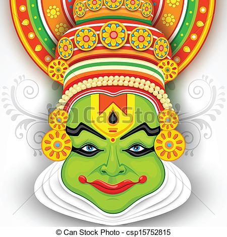 Mask clipart kathakali Vector Kathakali Colorful Vector Clipart