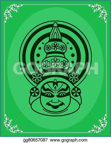 Mask clipart kathakali Paint Clipart Vector Vector