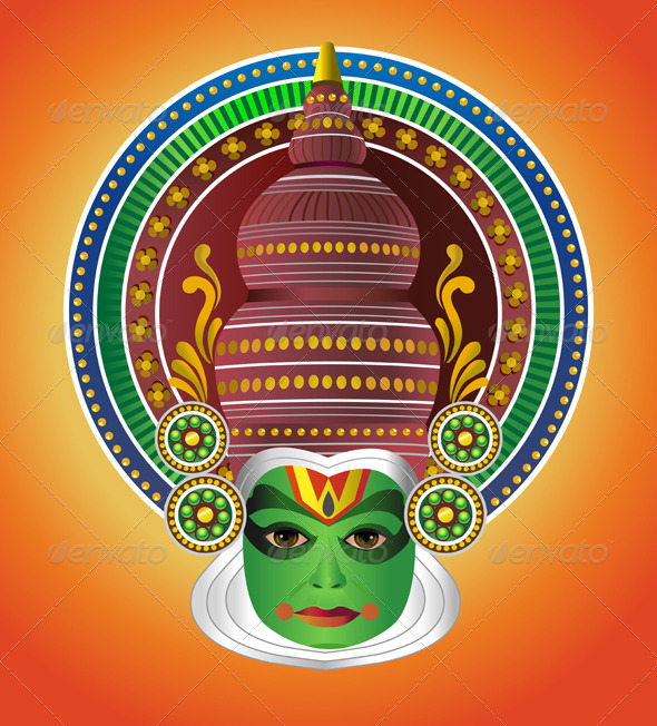 Mask clipart kathakali Traditional Traditional Indian Indian South