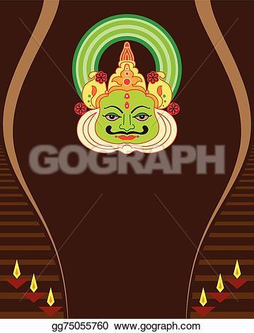 Mask clipart kathakali Kathakali gg75055760 Kathakali vector paint