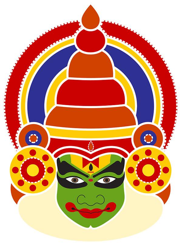 Mask clipart kathakali Dancer's Kathakali Stickers by NeetiAgarwal