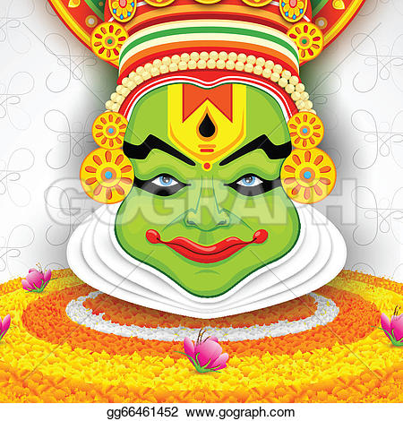 Mask clipart kathakali Free Clip on Colorful feast