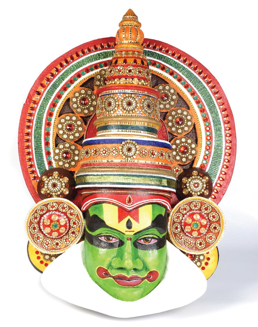 Mask clipart kathakali PAttern Kathakali Style Wall from