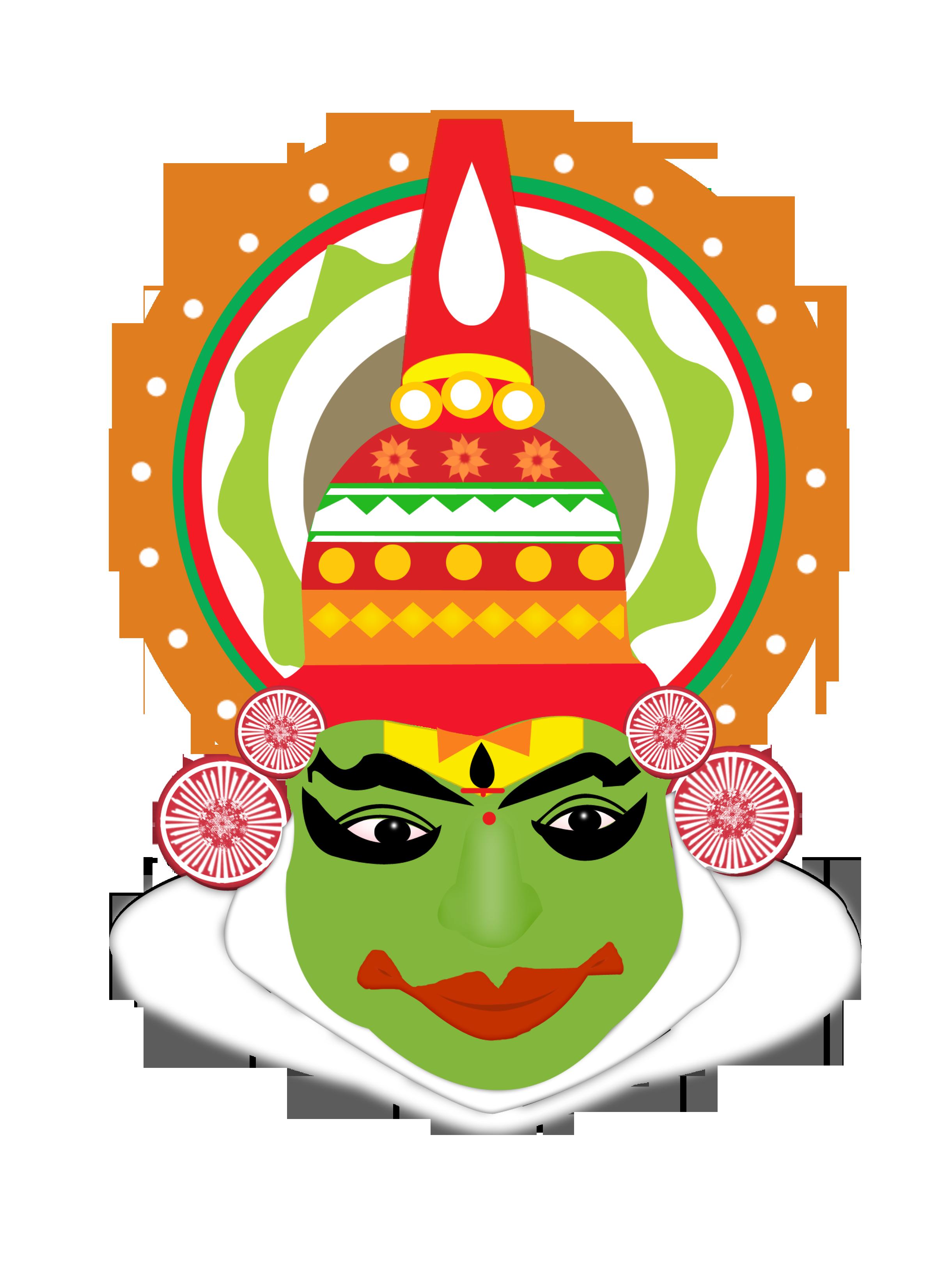Mask clipart kathakali Art a Its form of