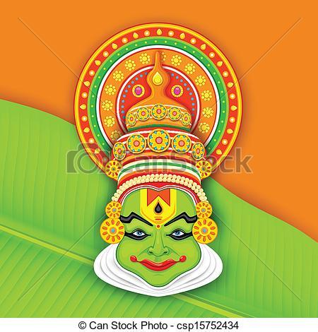 Mask clipart kathakali Art Colorful  Kathakali Vector