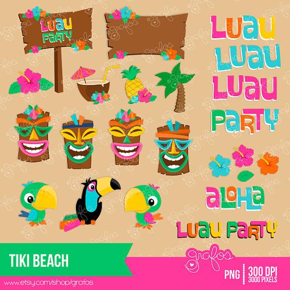 Mask clipart luau Party by Digital Hawaiian Luau