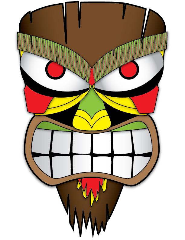 Mask clipart luau Face LUAU Hawaiian by tiki