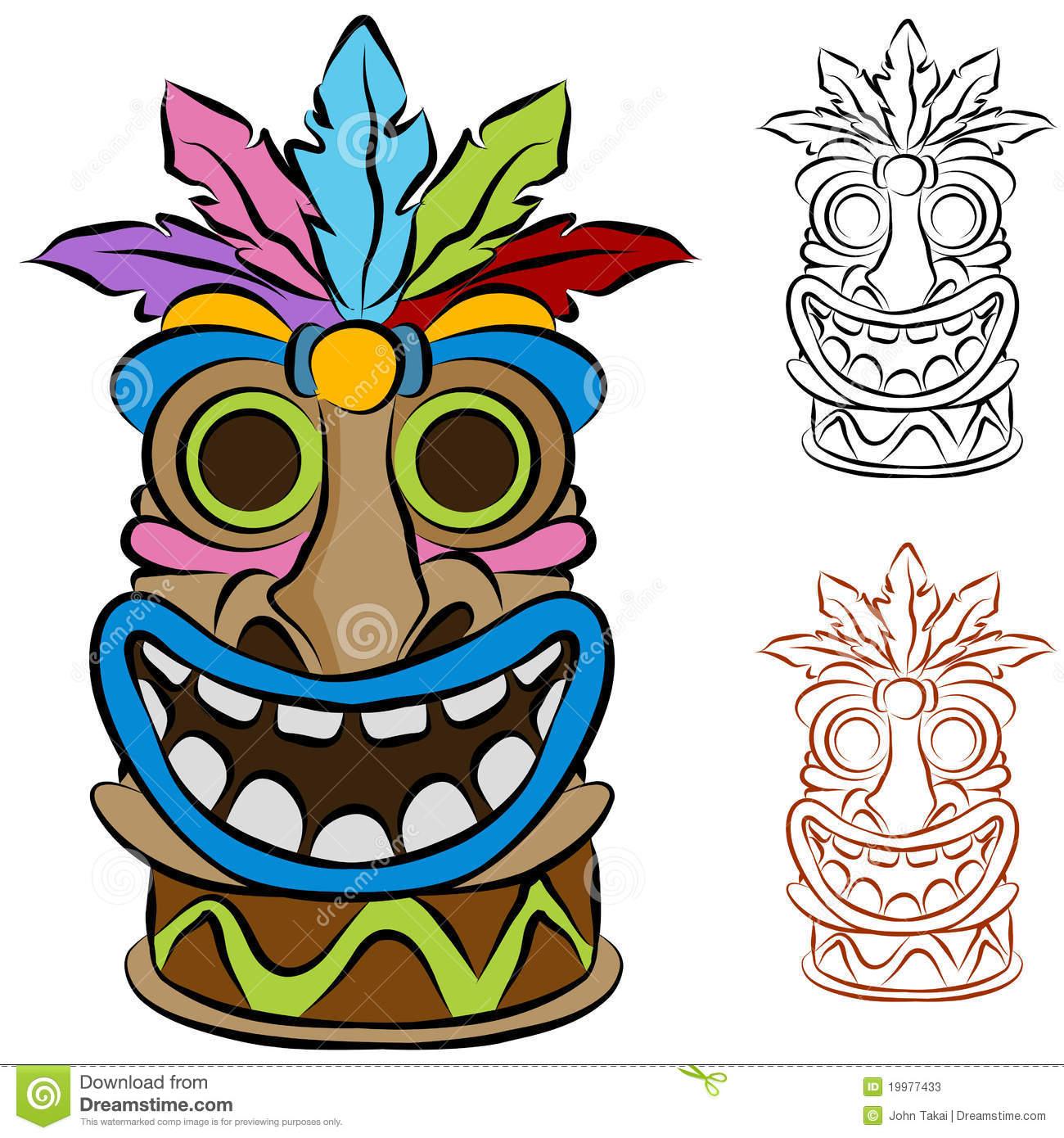 Mask clipart luau LUAU Mask Tiki Happy Mask