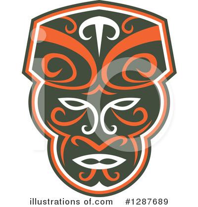 Mask clipart maori Illustration (RF) Maori Clipart by