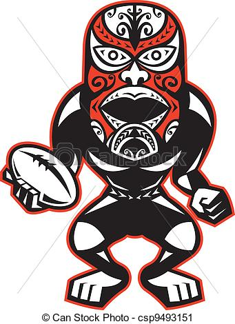 Mask clipart maori Ball Rugby Player With Player