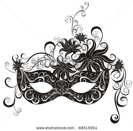 White clipart masquerade mask For masquerade Masks vector :