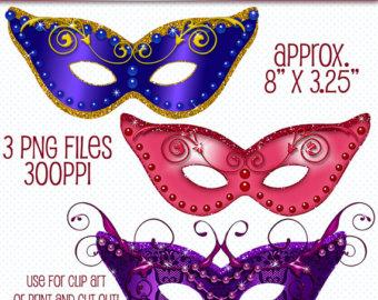 Masquerade clipart masquerade ball mask Mardi Digital Masquerade Art Masquerade