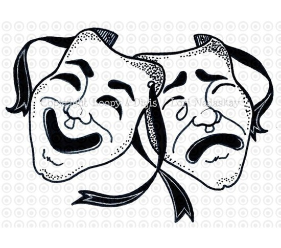 Theatre clipart theatre mask comedy tragedy And COMEDY art Loopy clip