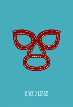 Mask clipart nacho libre De NachoMask movie poster 4'X6'