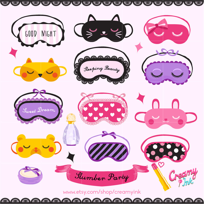 Mask clipart party This Party Sleepover  digital