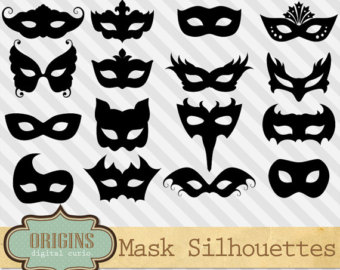 Mask clipart party Mask Gras Masquerade mask Etsy