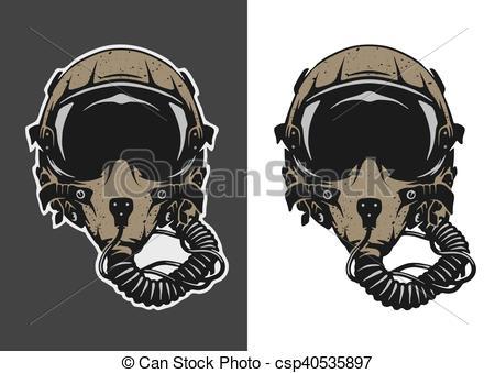 Mask clipart pilot Helmet  Pilot of helmet