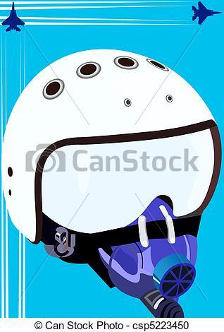 Mask clipart pilot Csp5223450  Pilot of helmet
