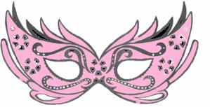 Masquerade clipart pink Pink at Light Mask Masquerade